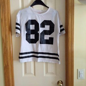 3/$25 white sports athletic jersey t-shirt